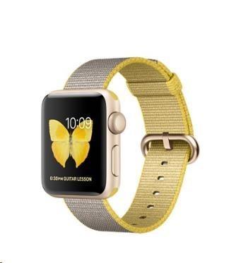Chytré hodinky Apple Watch Series 2, 38mm puzdro zo zlatého AL + žltá/sv.sivá