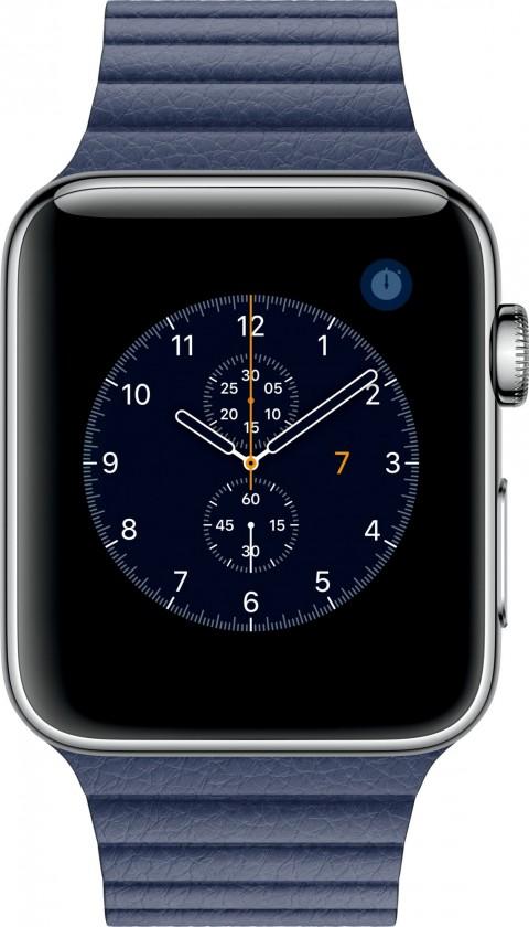 Chytré hodinky Apple Watch Series 2, 42mm pouzdro z nerez. oceli + modrá,M