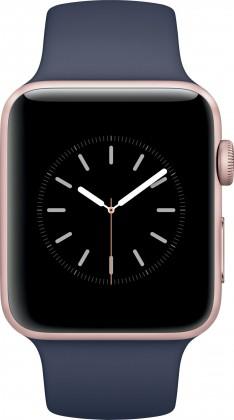 Chytré hodinky Apple Watch Series 2, 42mm pouzdro z růžově zlatého AL + modrá