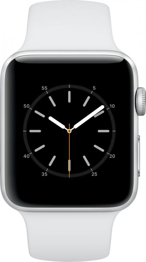 Chytré hodinky Apple Watch Series 2, 42mm pouzdro ze stříbrného AL + bílá