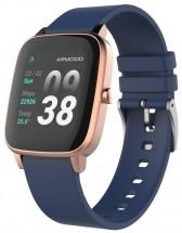 Chytré hodinky Armodd Slowatch, zlatá/modrá