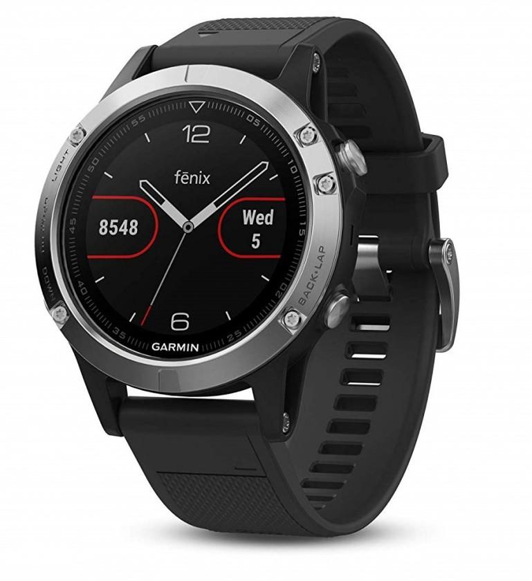 Chytré hodinky Chytré hodinky Garmin Fenix ??5 Optic Silver, čierna