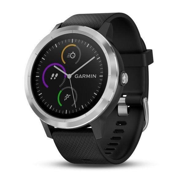 Chytré hodinky Chytré hodinky Garmin VivoActive 3 Optic Silver, čierna