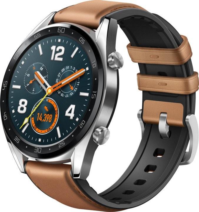 Chytré hodinky Chytré hodinky Huawei Watch GT CLASSIC, strieborná