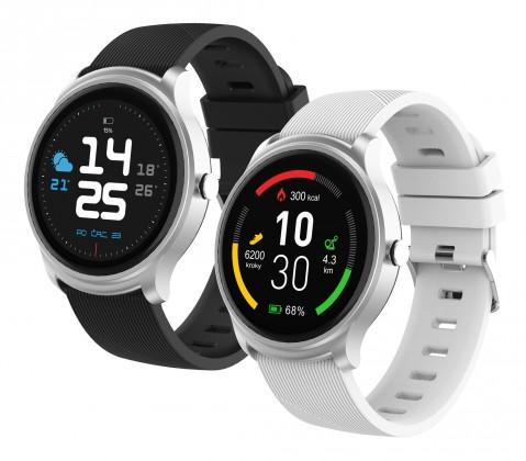 Chytré hodinky Chytré hodinky iGET Fit F6, 2 remienky, strieborná