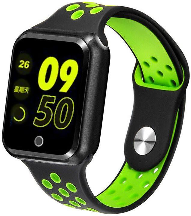 Chytré hodinky Chytré hodinky Immax SW10, čierna/zelená