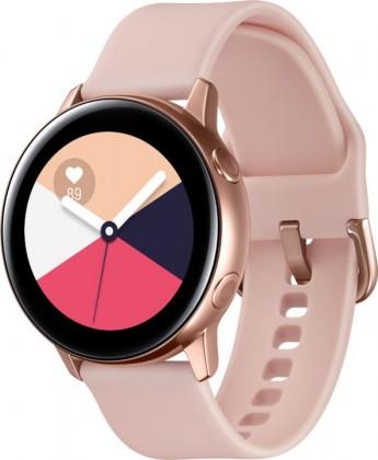 Chytré hodinky Chytré hodinky Samsung Galaxy Watch Active R500, ružová/zlatá