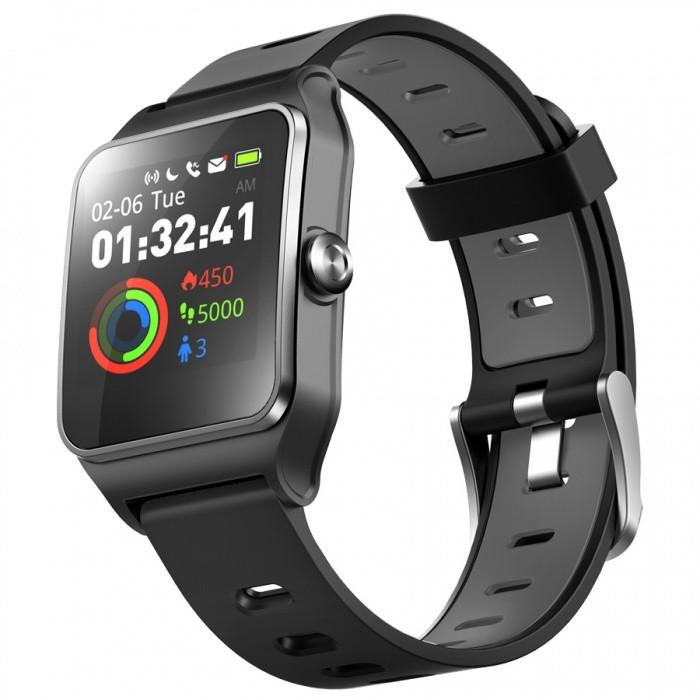 Chytré hodinky Chytré hodinky Umax U-Band P1 PRO s meraním tepu, čierna
