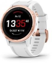Chytré hodinky Garmin Fenix 6S Pro Glass, biela/ružová