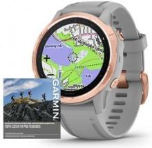 Chytré hodinky Garmin Fenix 6S Pro Sapphire, sivá/ružová