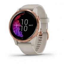 Chytré hodinky Garmin Venu, ružová/béžový remienok