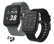 Chytré hodinky iGET Fit F25, 2x remienok, čierna