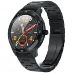 Chytré hodinky Immax SW14 PLUS, kožený + kovový remienok, čierna