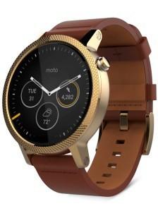 Chytré hodinky Motorola Moto 360 (2. Gen.) 46mm kryt striebro - naramok konak