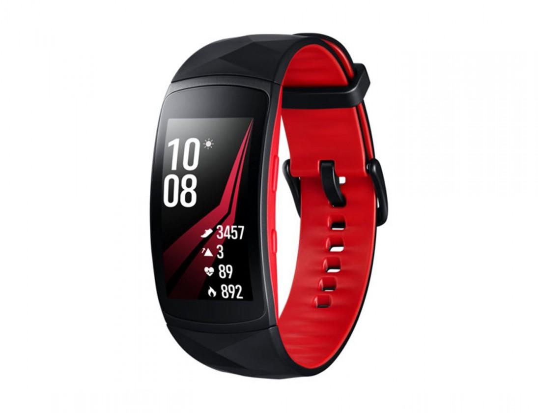 Chytré náramky Chytrý náramok Samsung Gear FIT 2 PRO, čierna/červená