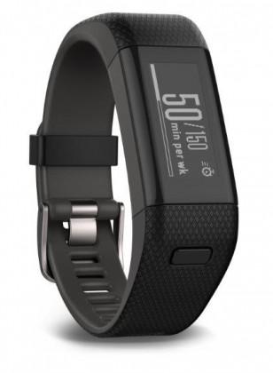 Chytré náramky Garmin vívosmart Optic s GPS Black, (vel.L)-fitness náramek