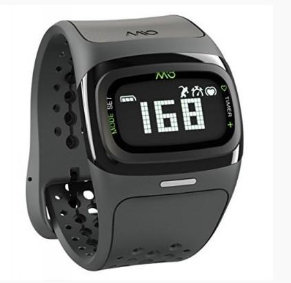 Chytré náramky MIO Alpha 2 športové hodinky, senzor srdcového tepu - čierné