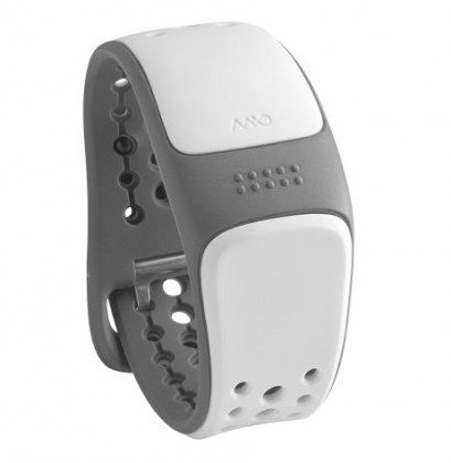 Chytré náramky MIO Link náramok, senzor srdcového tepu, krátky pásik - biely