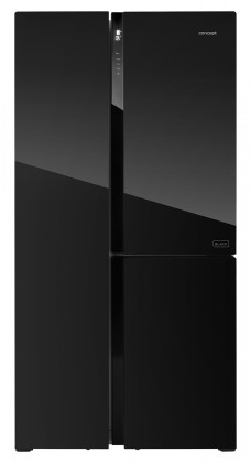 Čierne americké chladničky Americká chladnička Concept LA7791bc,A+