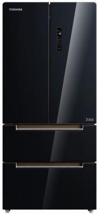 Čierne americké chladničky Americká chladnička Toshiba GR-RF532WE-PGJ(22)