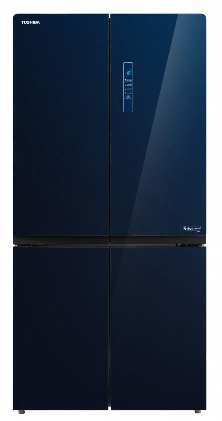 Čierne americké chladničky Americká chladnička Toshiba GR-RF646WE-PGS(24)