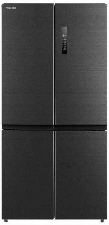 Čierne americké chladničky Americká chladnička Toshiba GR-RF646WE-PMS(06)