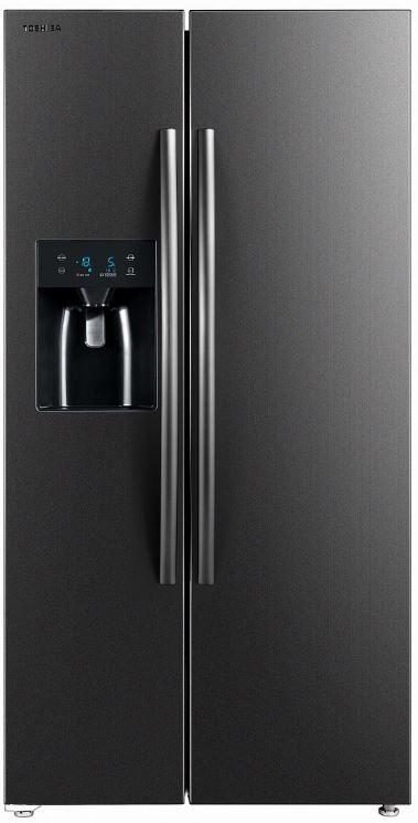 Čierne americké chladničky Americká chladnička Toshiba GR-RS508WE-PMJ(06)