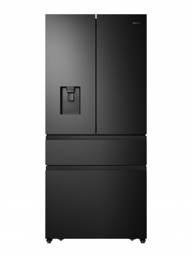 Čierne americké chladničky French Door Americká chladnička Hisense RF540N4WF1
