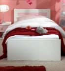 Cinderella - Detská posteľ 90x200 (biela, růžová)