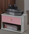 Cinderella - Nočný stolík (biela, růžová)