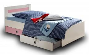 Cinderella - Úložný box k detskej postieľke (biela, růžová)