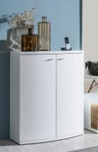 Cino - Komoda (biela/biela vysoký lesk)