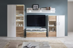 Cino - Obývacia stena kombi 01+TV pod.(artic biela/dub mountain)