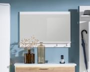 Cino - Panel so zrkadlom, 1x police, 2x háčik (biela)