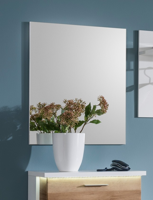 Cino - Panel so zrkadlom (biela)