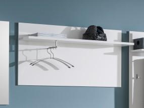 Cino - Vešiakový panel, 1x police (biela)