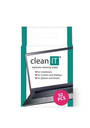 Čistiace prostriedky Čistiace obrúsky CLEAN IT CL150, 52 ks