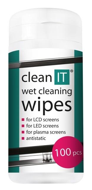 Čistiace prostriedky Čistiace obrúsky na LCD/TFT CLEAN IT CL140, 100ks