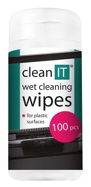 Čistiace prostriedky Čistiace obrúsky na plasty CLEAN IT CL142, 100ks