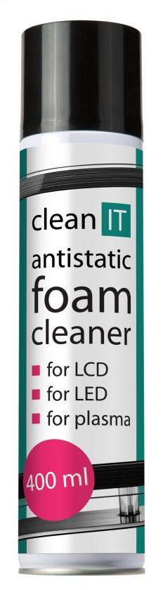 Čistiace prostriedky Clean IT antistatická čistiaca pena na obrazovky 400ml