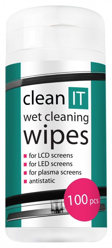 Čistiace prostriedky Clean IT vlhčené čistiace obrúsky, 100ks