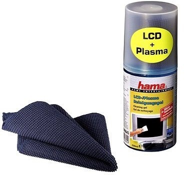 Čistiace prostriedky Hama gél pre čistenie LCD/Plazma displejov vrátane utierky