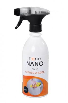 Čistiace prostriedky na nábytok Nano - čistič textilu a kože (500 ml)