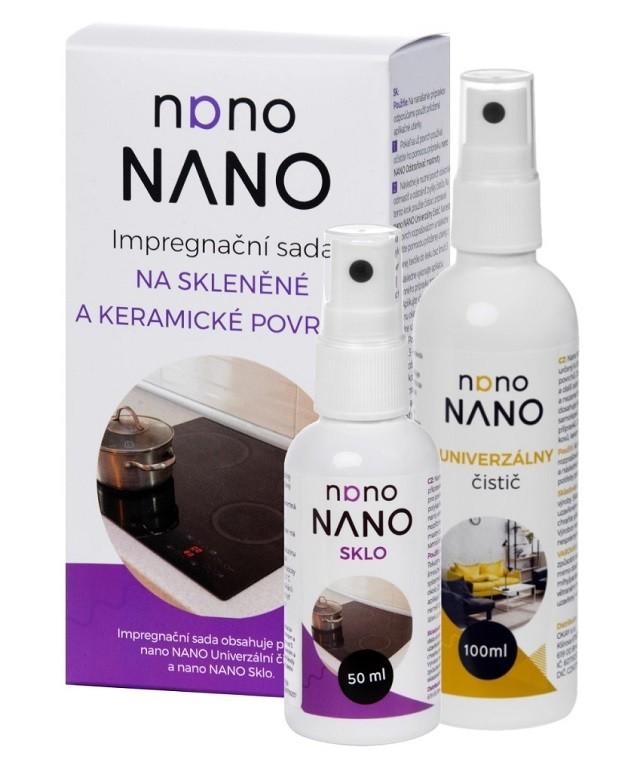 Čistiace prostriedky na nábytok Nano - čistící a impregnační sada na skleněné povrchy (100+50 ml)