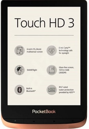 Čítačka elektronických kníh E-book POCKETBOOK 632 Touch HD 3, Spicy Copper, 16GB