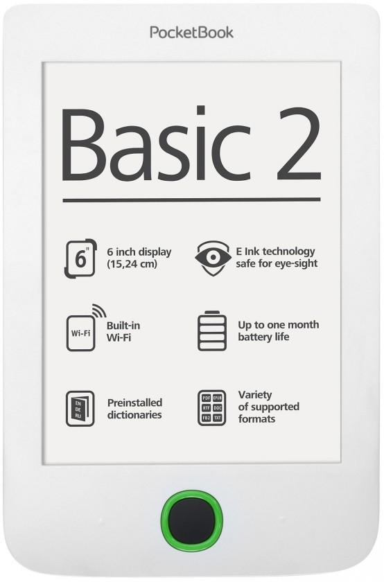 Čítačka elektronických kníh PocketBook 614 Basic 2 Biela