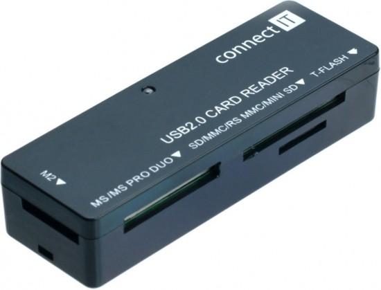 Čítačka kariet Connect IT čítačka pamäťových kariet CI56, ultra slim