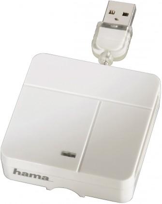 Čítačka kariet Hama Čítačka All in One Multi-Card Reader, Basic, biela