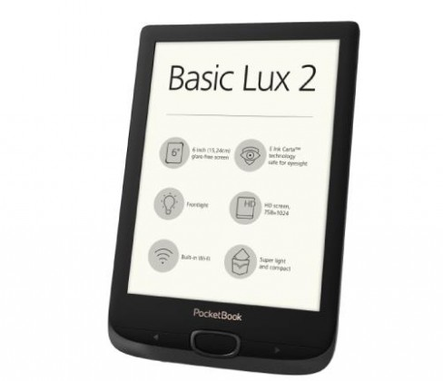 Čítačky kníh E-book POCKETBOOK 616 Basic Lux 2, Obsidian Black