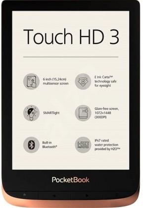 Čítačky kníh E-book POCKETBOOK 632 Touch HD 3, Spicy Copper, 16GB